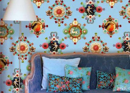 Die besten 25+ Funky wallpaper Ideen auf Pinterest Retro-blumen - tapete für die küche