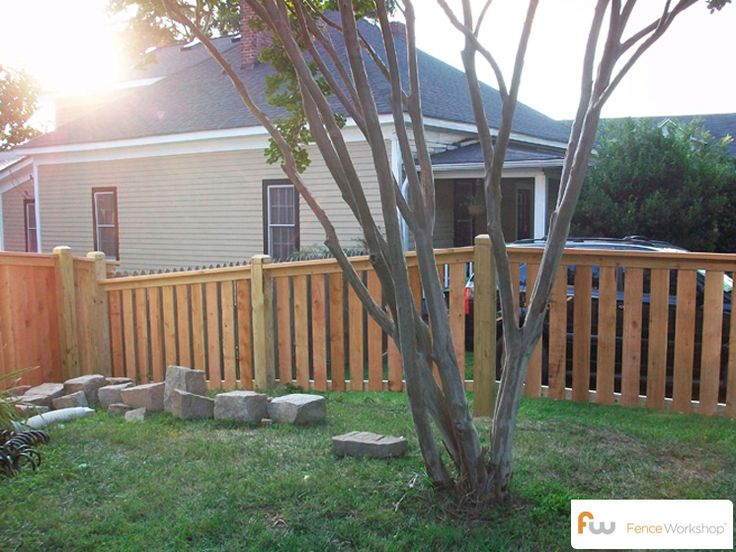 The cloverhurst wood picket fence pictures per foot for 4 foot fence ideas