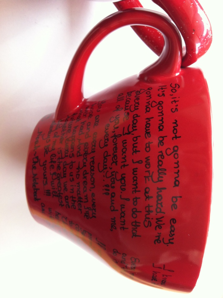 Mug with great men quotes from The Notebook  PS I Love by litsakiv, $22.00