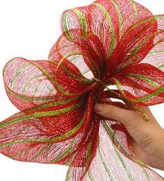 How To Make Any Size Bow Easily with Deco Mesh!