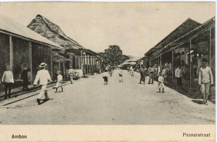 Passarstraat te Ambon 1880-1920.