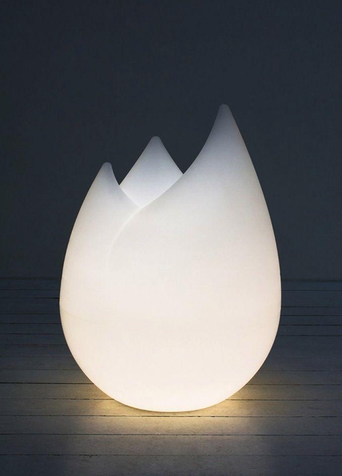 Flame sculptural lamp by Sebastian Bergne, manufactured by Serralunga…