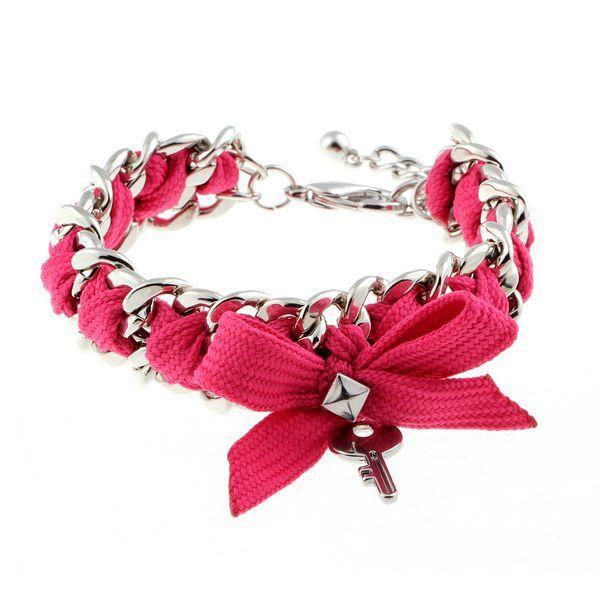 Pink Ribbon Ключевые Шарм Сплава браслеты и браслеты сердца леопарда браслет, с имитацией перл розовый бантом браслет 2014