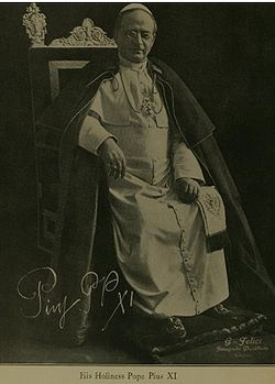 Pope Pius XI (1922–1939) Warsaw forced his departure as Nuncio. Two years later, he was Pope. He signed concordats with numerous countries including Lithuania and Poland.