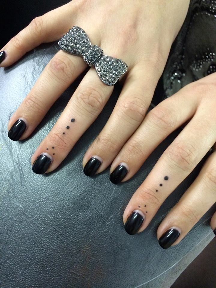 3 Dots Tattoo: Dots On Fingers. Tattoos By Rachel Garrison Tattoo Artist