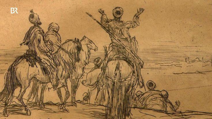 """Hinter dem Monogramm """"MB"""" verbirgt sich der holländische Maler und Grafiker Mani Bauer, der zwischen 1890 und 1910 die Ankunft einer Karawane an der Oase in eine filmreife Szene verwandelt hat. Den Haag, Holland. Geschätzter Wert: 100 bis 150 Euro"""