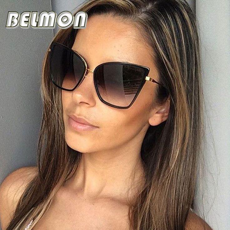 2016 Fashion Cat Eye Sunglasses <b>Women Luxury Brand Designer</b> ...