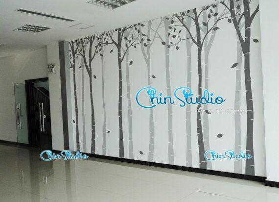 Adesivi, decalcomanie, adesivi murali in vinile, adesivi murali, adesivi murali di scuola materna, adesivi murali albero, albero arte-frondoso albero