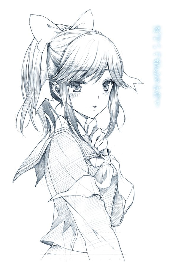 anime girl outline | ILLUSTRATIONS / ANIME | Pinterest ...