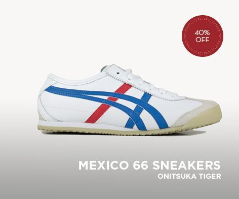 ASICS ONITSUKA TIGER MEXICO 66 UNISEX SHOES BLUE/RED/WHITE