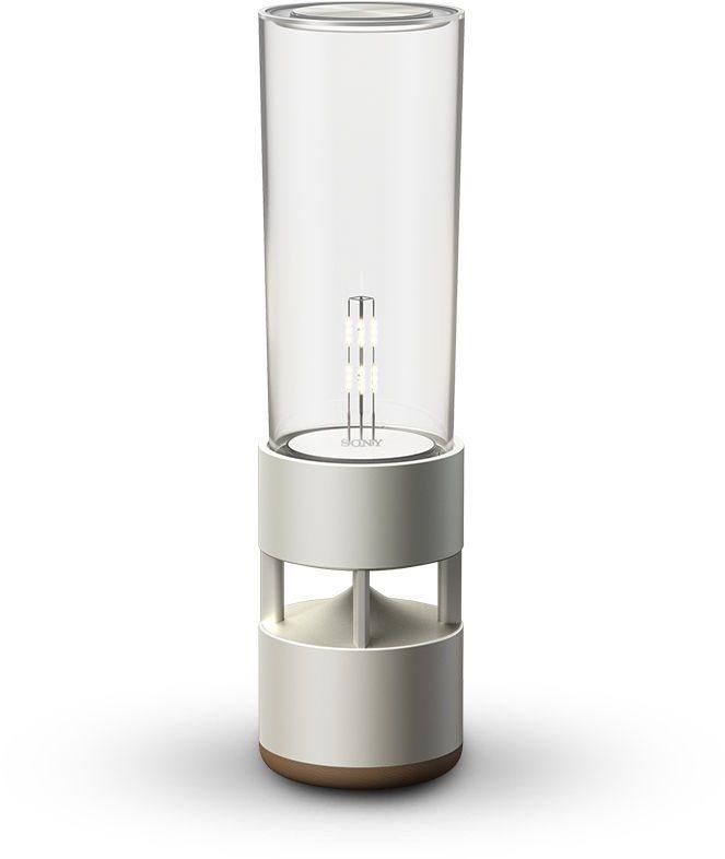 Sound + warm illumination = Comfort in new forms  Glass Sound Speaker