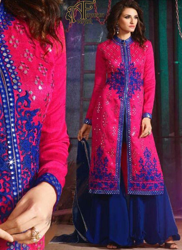 pink salwar suits online – indian silk designer salwar kameez online shopping