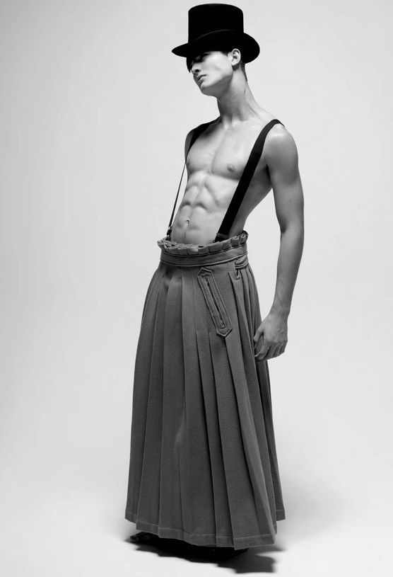 Model Fabricio Bach  Photography byCristiano Madureira  Archive pieces by Alexandre Herchcovitch