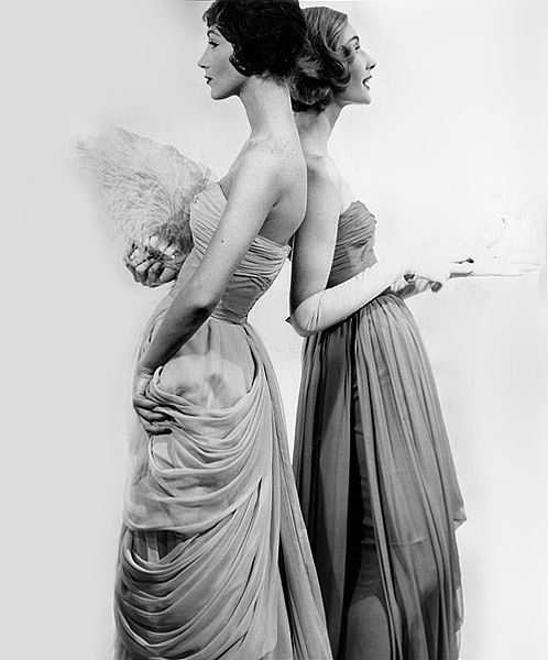 Evening Gowns: reminds me of my sister