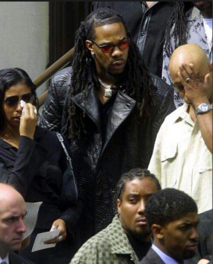Busta Rhymes (Aaliyah funeral)