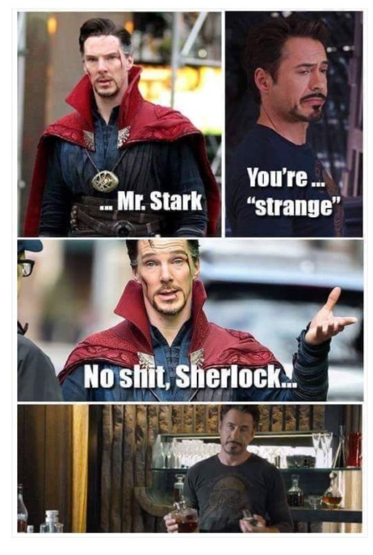 "They so need to have a ""Sherlock"" reference in Infinity War!"