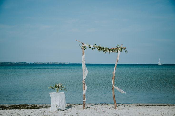 Beach Wedding in Denmark. Elopement and destination wedding planner on the romantic island of Aeroe, Denmark. Danish Island Weddings - www.getmarriedindenmark.com