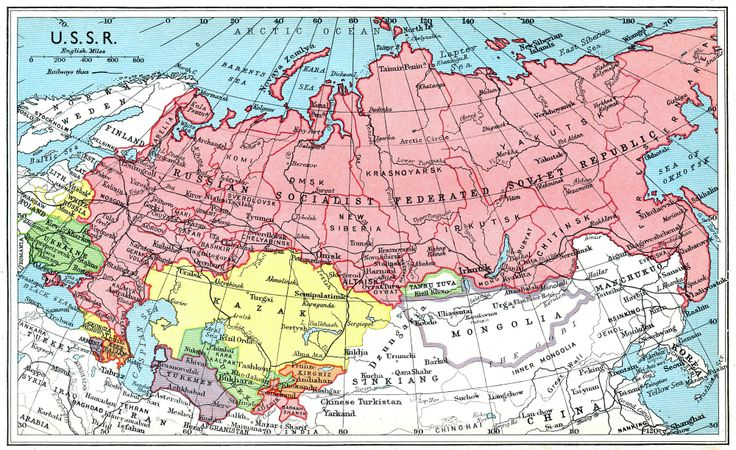 Map of USSR 1941 WorldRegionalGeography Pinterest
