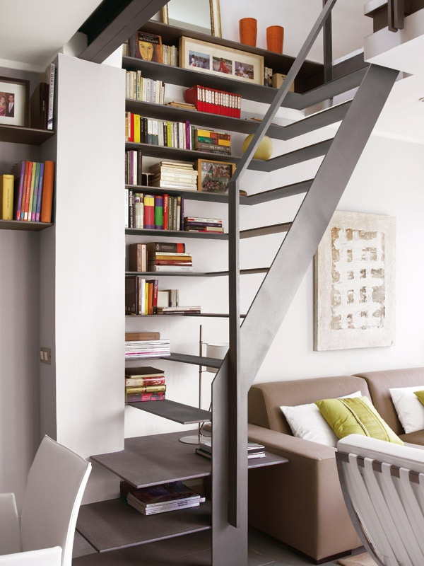 CASADIEZ.ES: Escalera, Ideas, Bookshelves, Stairs, Staircases, Interiors Design, House, Small Spaces, Bookca