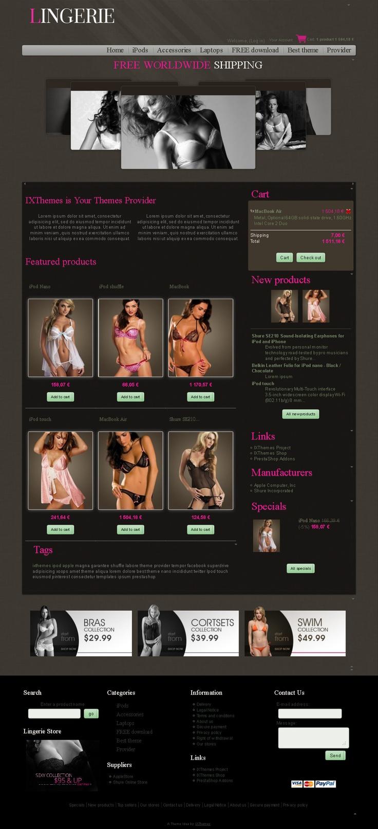 #PrestaShop #inspirations 011 based on the ixt0320770riskfree_p #theme:  Internet Site,  Website, Web Site