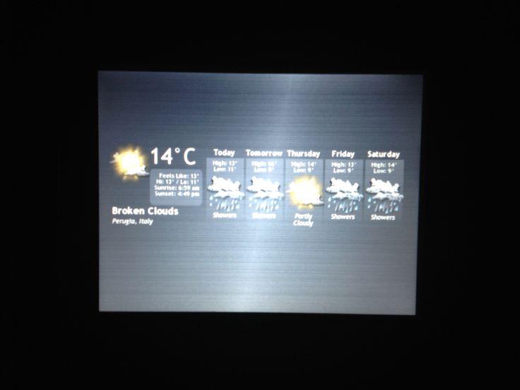 Un display per il controllo della temperatura. Semplice e immediato.