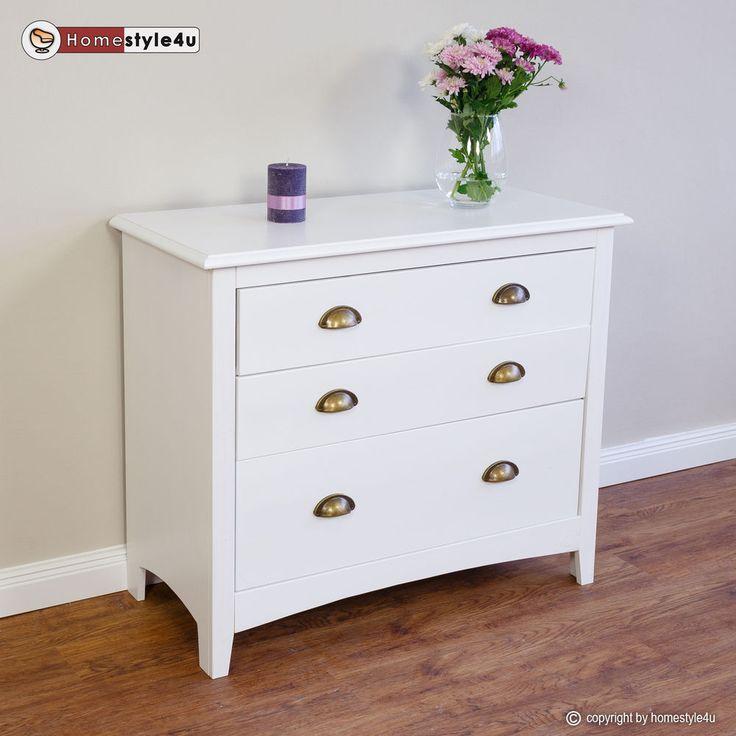 Kommode Landhaus Schrank Sideboard Schubladen weiß Regal in Möbel & Wohnen, Möbel, Regale & Aufbewahrung | eBay