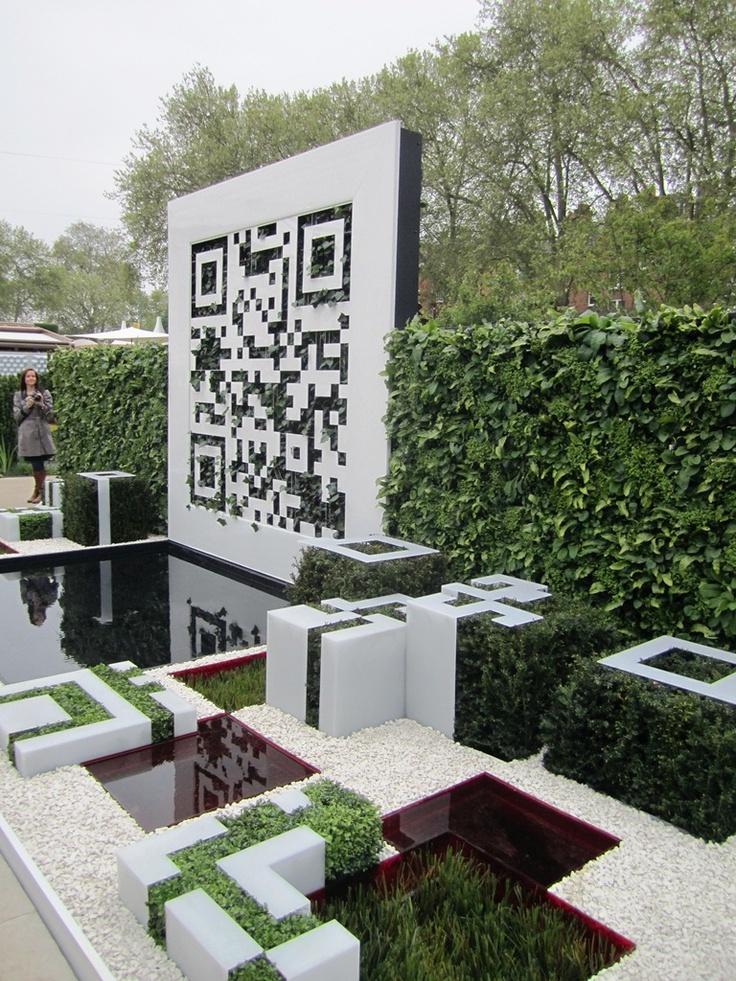 The QR Code Garden at Tatton Park