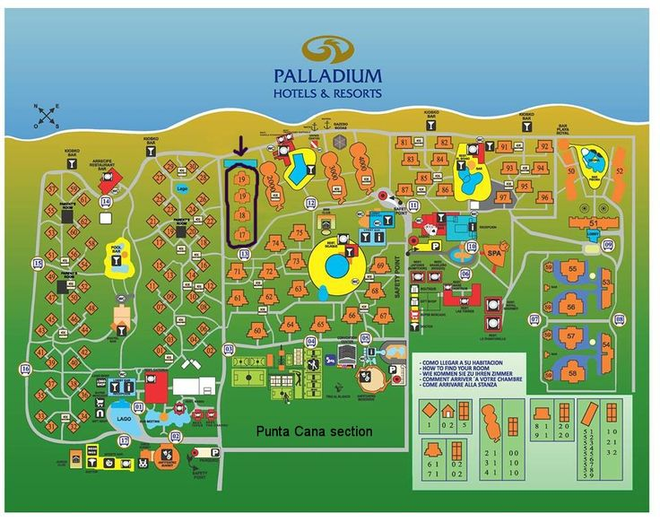 Map Layout Grand Palladium Punta Cana