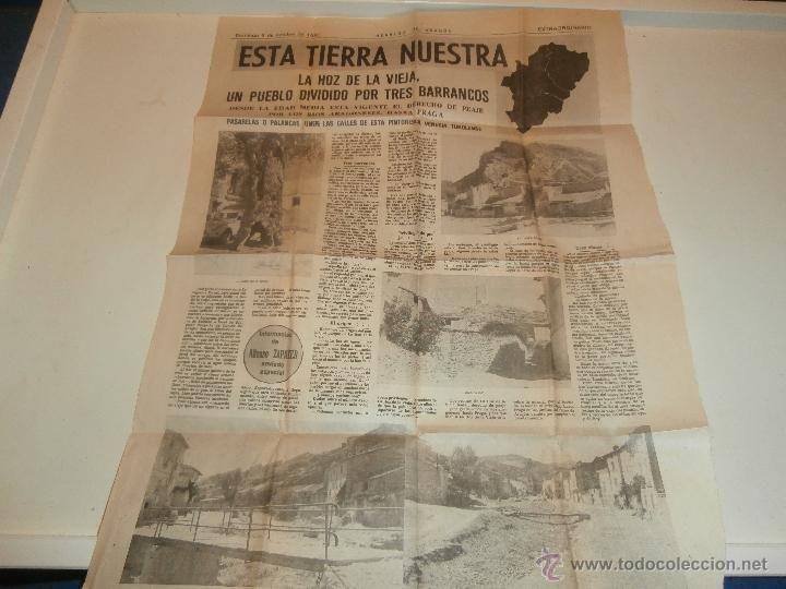 HOJA HERALDO DE ARAGON- LA HOZ DE LA VIEJA 1980 TERUEL (Coleccionismo - Revistas y Periódicos Modernos (a partir de 1.940) - Otros)