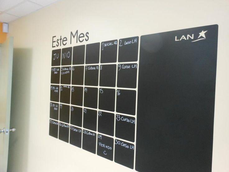 Calendario para organizar decorar de vinilo decorativo for Vinilos para oficinas