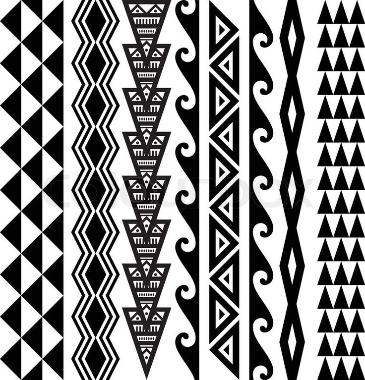 Stock vector ✓ 15 M images ✓ High quality images for web & print | Kakau Hawaiian tattoo collection in black.