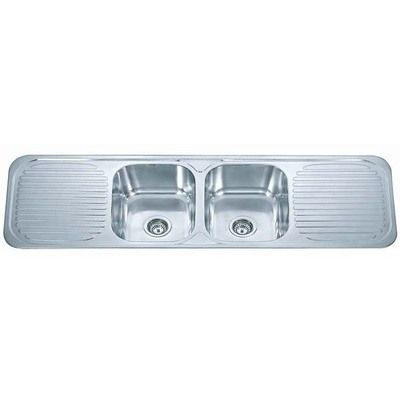 double bowl double drainer inset kitchen sink f01 polished finish grandtaps uk - Double Drainer Kitchen Sink