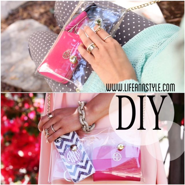 DIY :: Clear crossbody mini clutch/purse  | www.annlestyle.com