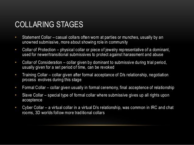 Bdsm collar meaning