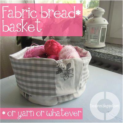 Cocalores: Fabric Basket Tutorial