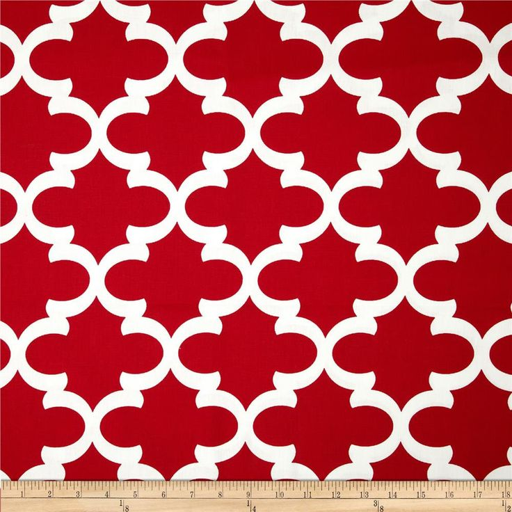 Red Valance. Moroccan.  Window treatment. Moroccan Trellis  Red. Lipstick red. Christmas curtain.  Designers pattern. Choose  your sizes by TwistedBobbinDesigns on Etsy