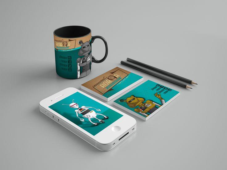 Papelería realizada para la marca de moda freack ROBOR. Diseño realizado por la agencia de publicidad Laboratorio Gráfico Bogotá.