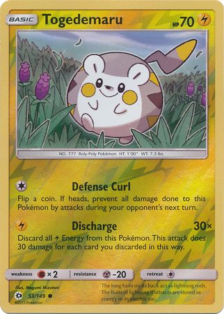 TrollandToad offers a large selection of Pokemon Singles at Great Prices. View Togedemaru - 53/149 - Common Reverse Holo and other Sun & Moon (Base Set) Reverse Holo Singles at TrollandToad.com.
