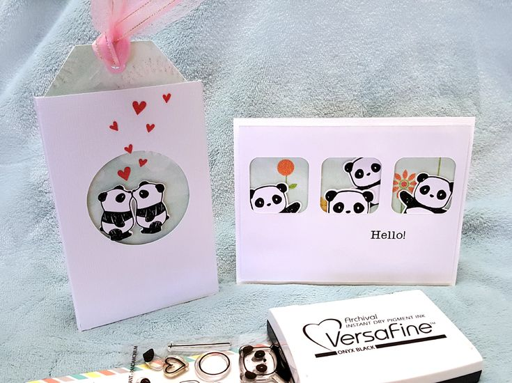 Had to make a couple quickie cards, so of course I turned to my favorite Mama Elephant Pandamonium stamps. Love these pandas because they...