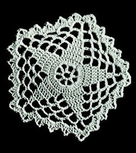 Five Pointed Star Doily - from Free Vintage Crochet - Wouldn't this make a great insertion on a sweatshirt, or on the outside of a pocket? How about several doilies of around the same size applied to the outide of an article of clothing?