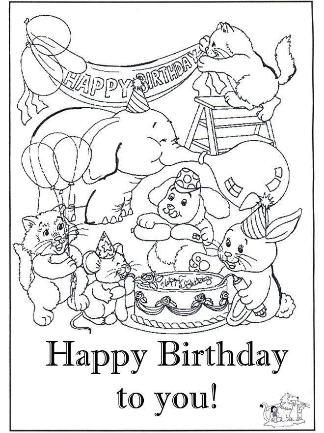The 28 best images about Happy Birthday coloring pages on Pinterest