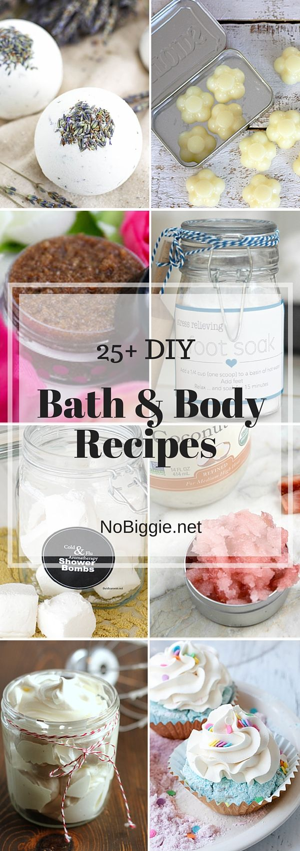 25+ Bath & Body Recipes | NoBiggie.net