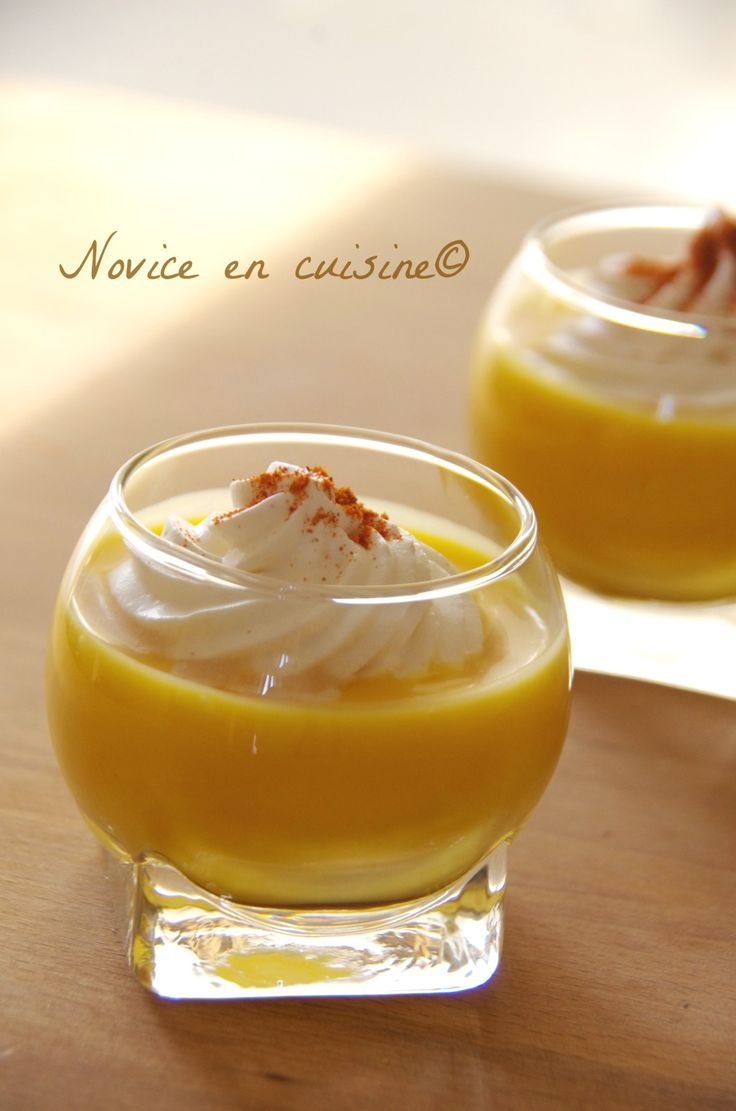Capuccino de potimarron et sa chantilly au paprika - Le blog de novice en cuisine
