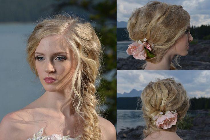 Bridal hairstyle Calgary makeup artist