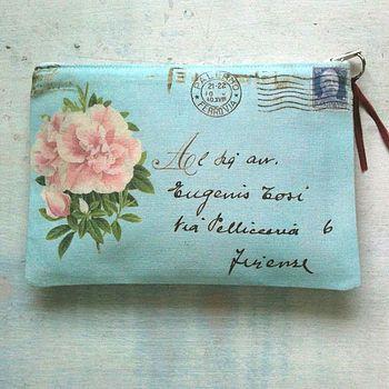 envelope makeup bag