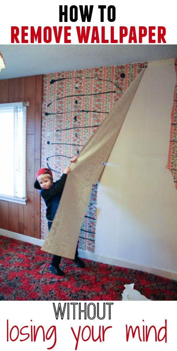 Wallpaper can be a really tough thing to remove. Here are some tips for removal. how to remove wallpaper without losing your mind at thehappyhousie.com #wallpaper #home #diy