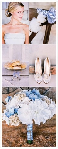 Preppy wedding - love the blue and white stripes.