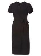 Womens **Tall V-Neck Front Shift Dress- Black