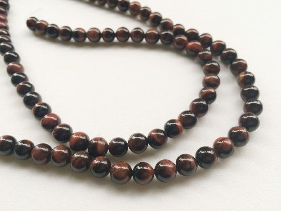 WHOLESALE 5 Strands Red Tigers Eye Beads Red by gemsforjewels