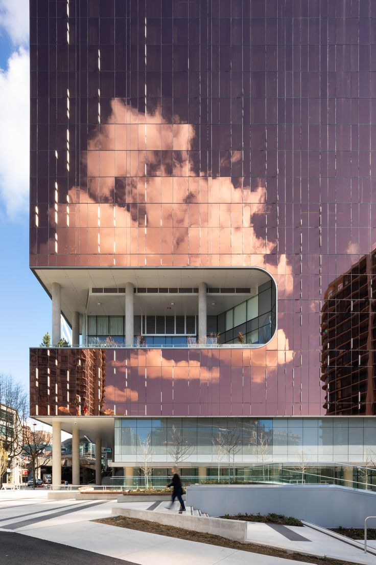 The main, street-facing facades of Parq by ACDF Ar…